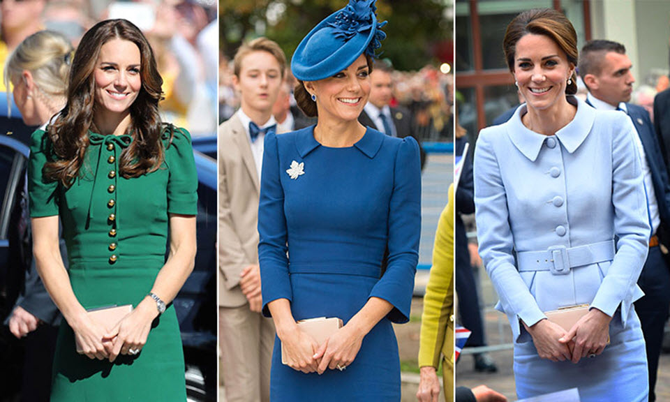 Carteras para damas: la reina Letizia y Kate Middleton