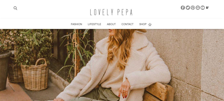 Pantallazo blog Lovely Pepa